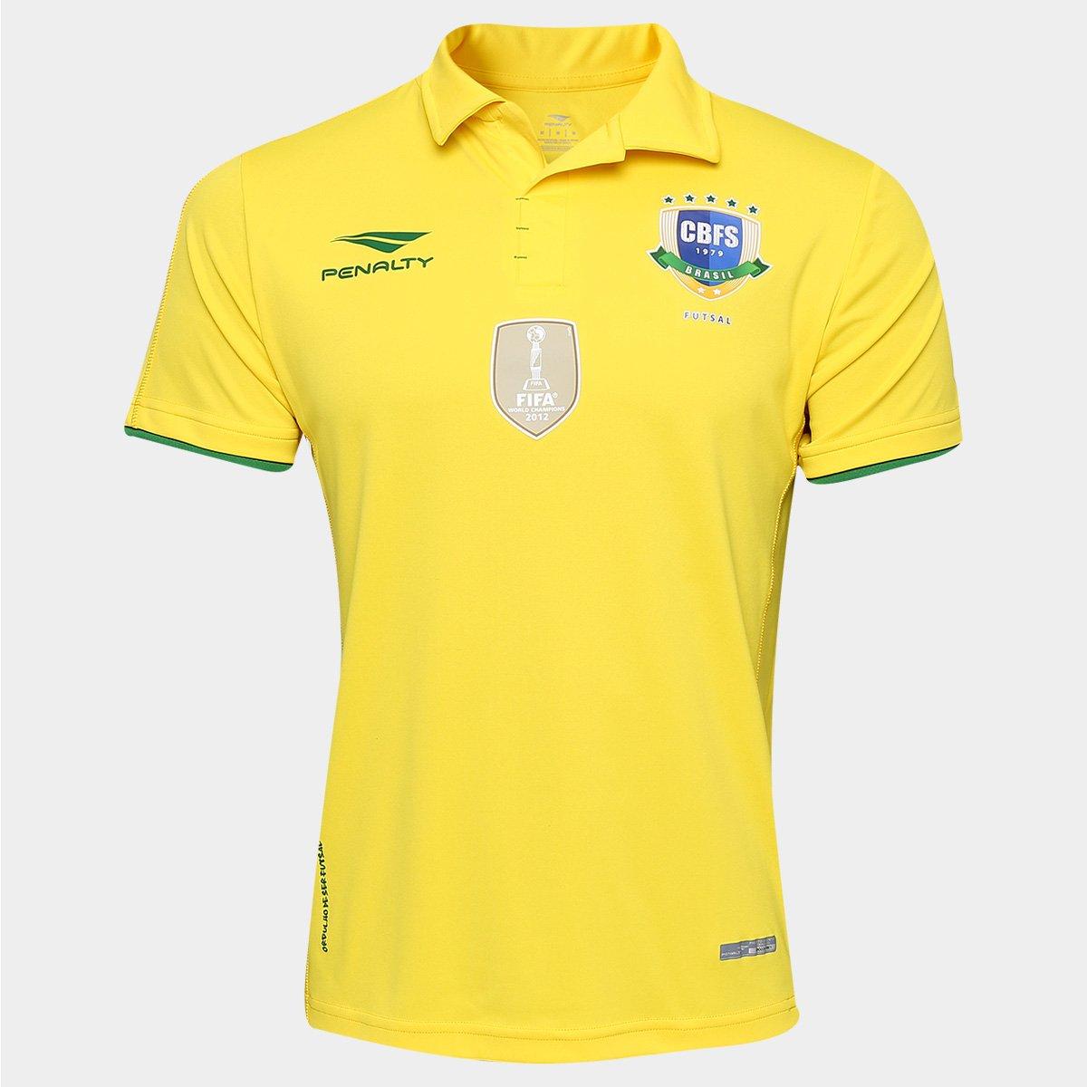 Camisa Penalty Seleção Brasileira de Futsal I 2016 s nº - Compre Agora  8ad5d0653119a