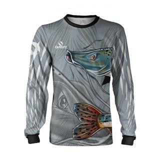 Camisa Pesca Quisty Pintado Plus Size Proteção UV Dryfit