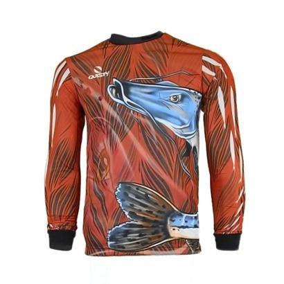 Camisa Pesca Quisty Pintado Plus Size Proteção UV Dryfit - Unissex