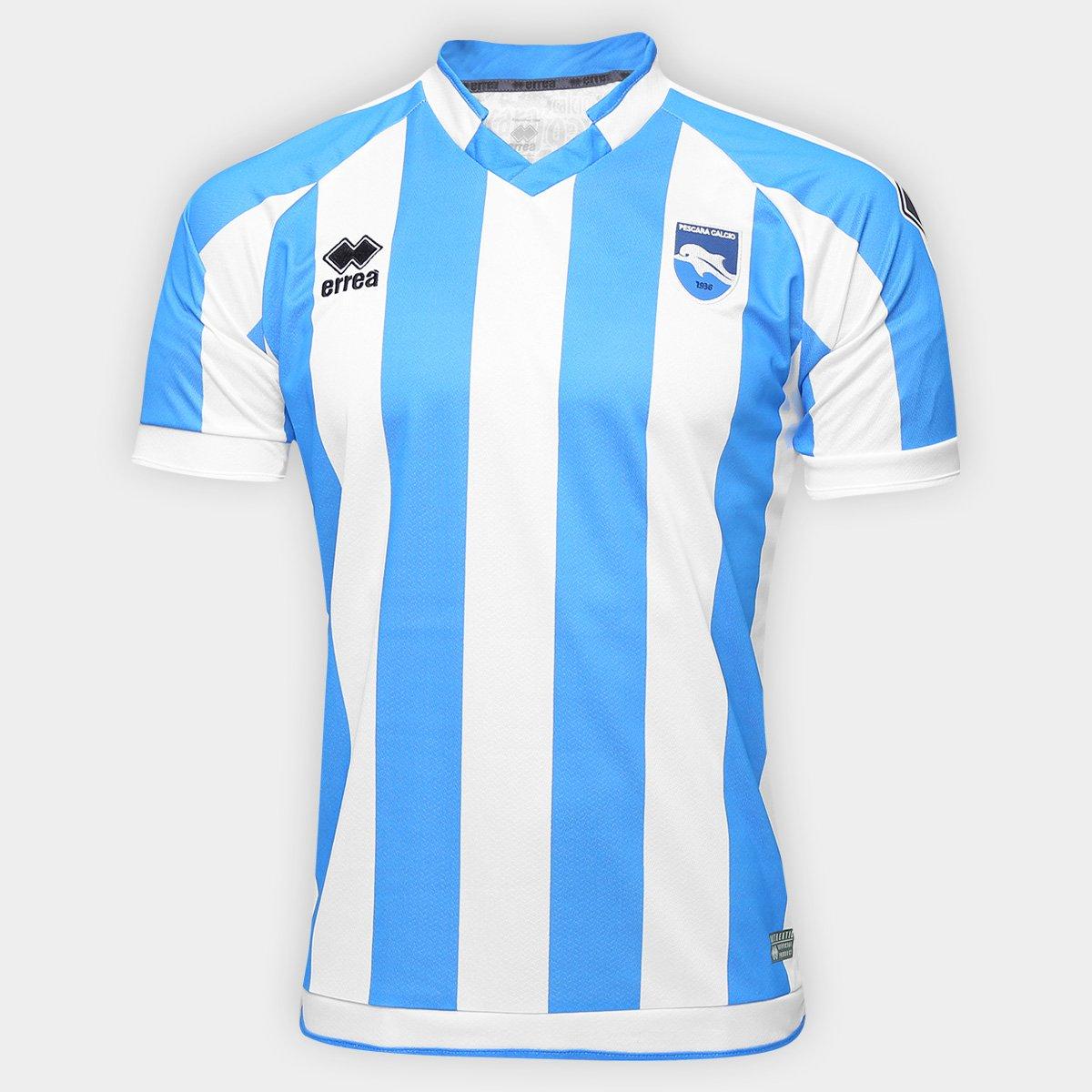 f765def09f04f Camisa Pescara Home 16 17 s nº Torcedor Errea Masculina - Compre Agora