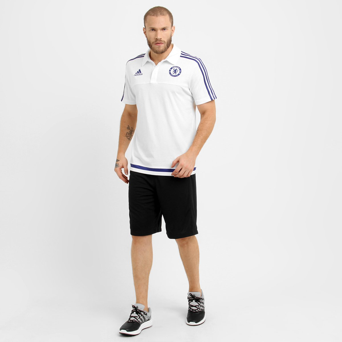 Camisa Polo Adidas Chelsea Viagem - Compre Agora  11b789bb8b28c