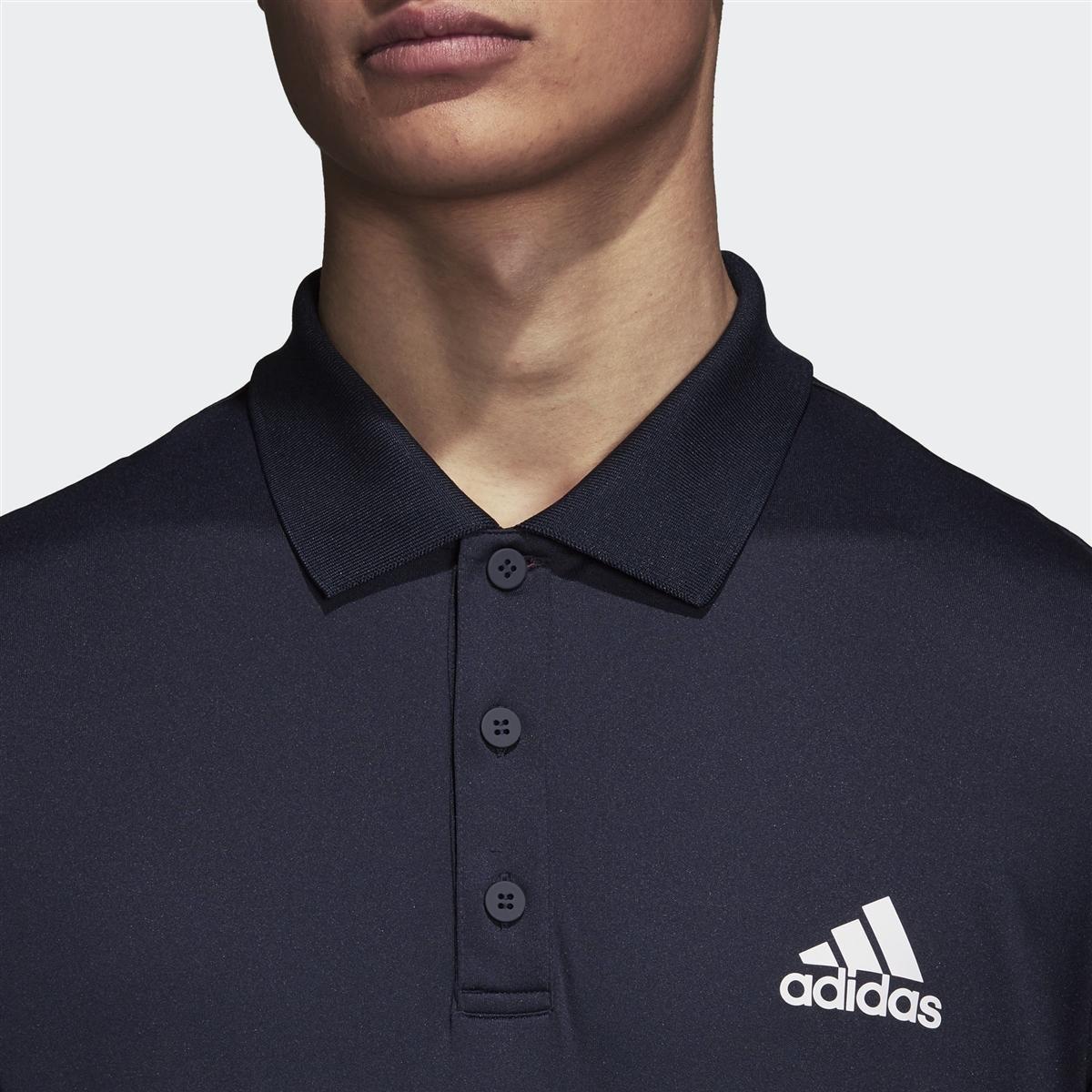 fe8f3f461c Camisa Polo Adidas Club 3 Listras Feminina - Marinho - Compre Agora ...