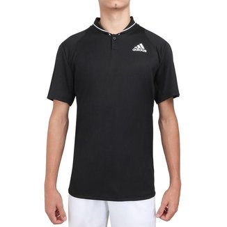 Camisa Polo Adidas Club Tennis Ribbed Preta