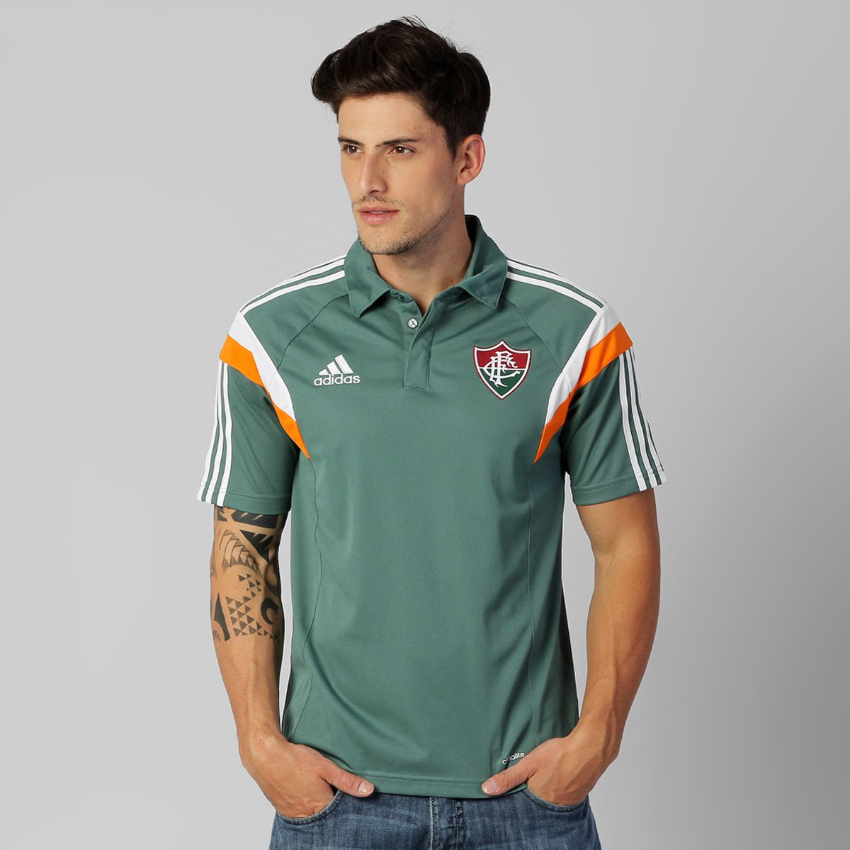 Camisa Polo Adidas Fluminense Viagem 2014 - Compre Agora  5305b2adaa6c0