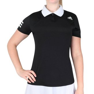 Camisa Polo Adidas Tennis Club Preta e Branca
