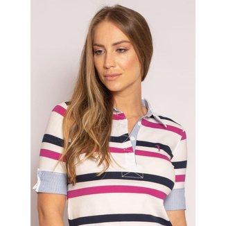 Camisa Polo Aleatory Feminina 3/4 Azalea
