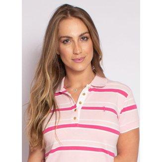 Camisa Polo Aleatory Feminina Piquet Listrada Fit