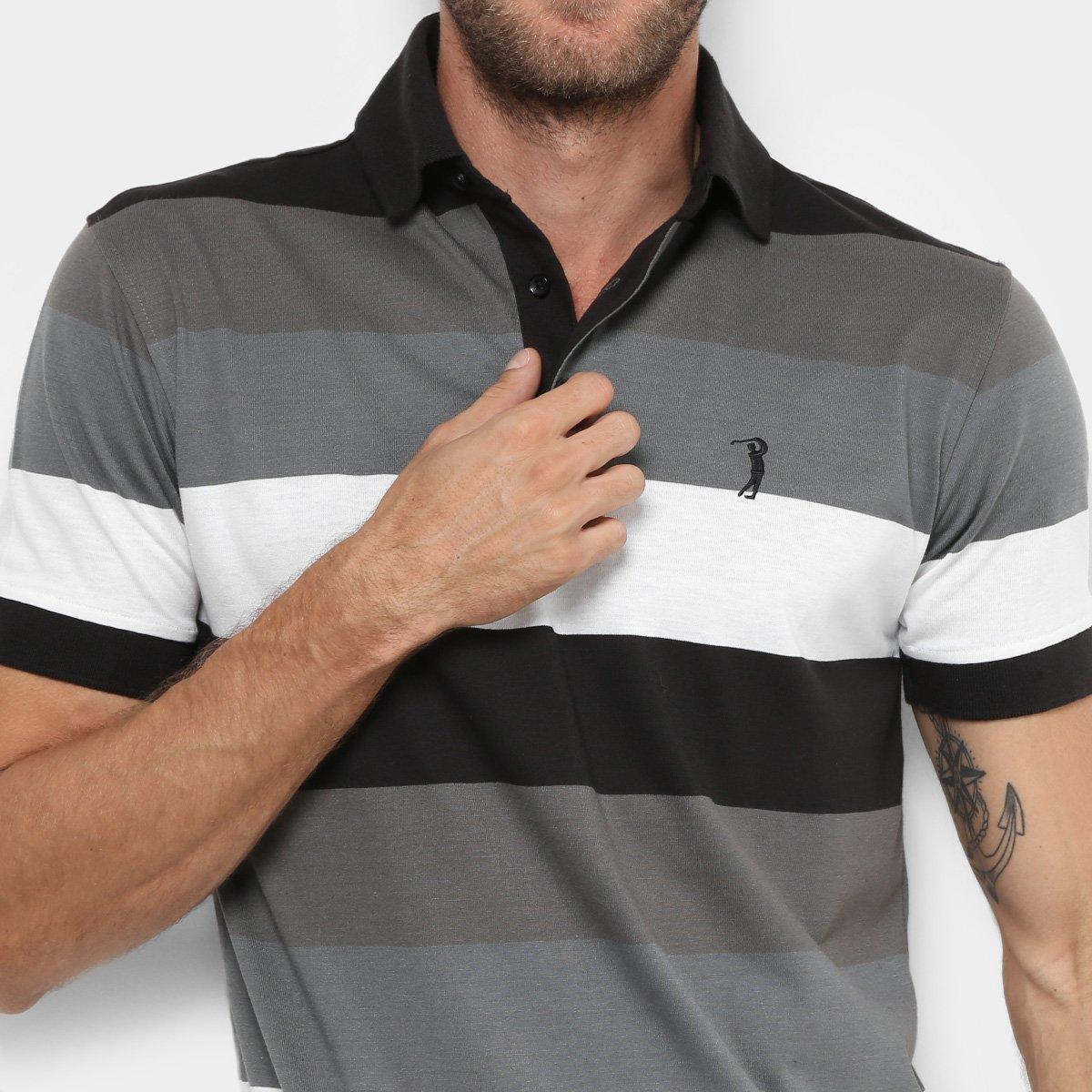 Camisa Polo Aleatory Fio Tinto Listras Masculina - Compre Agora ... dcc0706065c7d