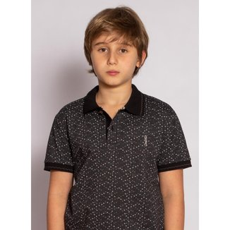 Camisa Polo Aleatory Infantil Estampada Fan Masculina