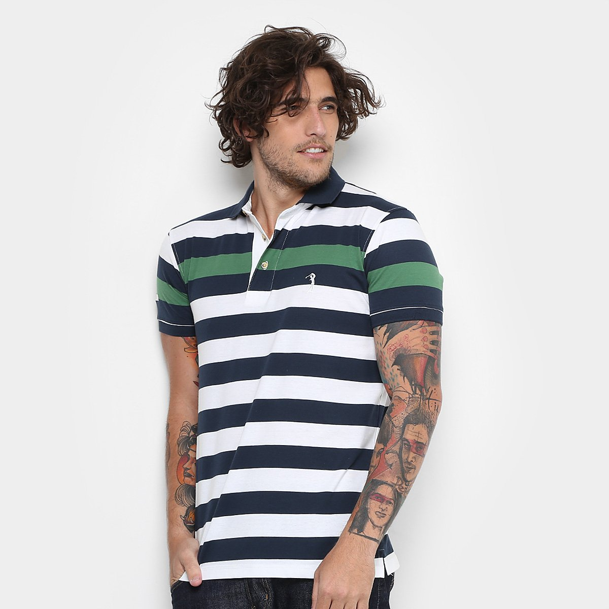 Camisa Polo Aleatory Listrada Fio Tinto Masculina - Compre Agora ... 7ece416e535b6