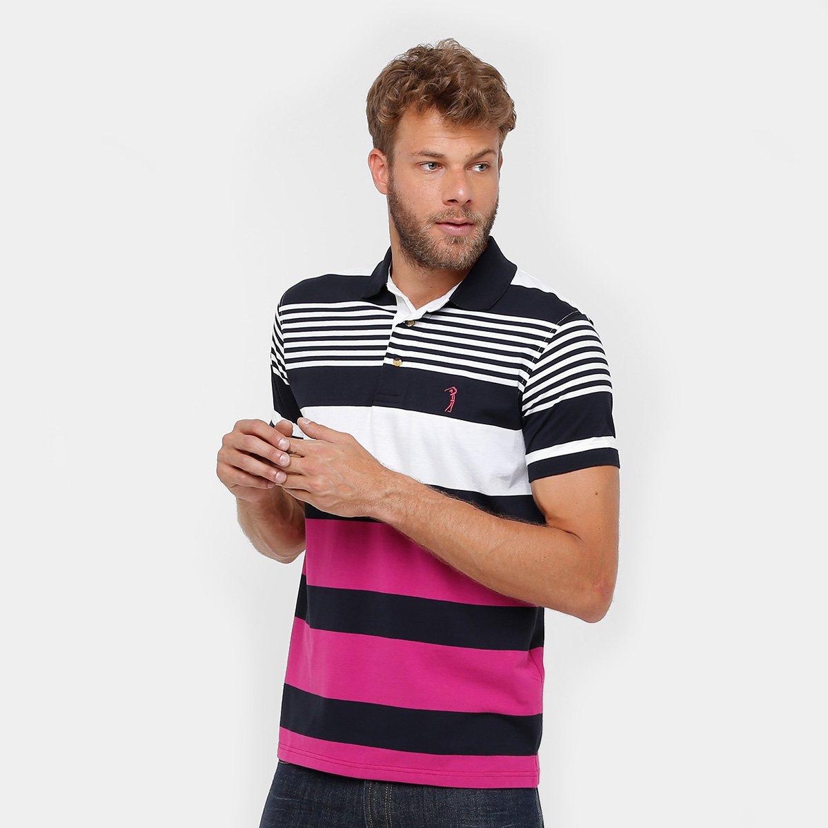 Camisa Polo Aleatory Listras Masculina - Compre Agora  b07f91c5541e0