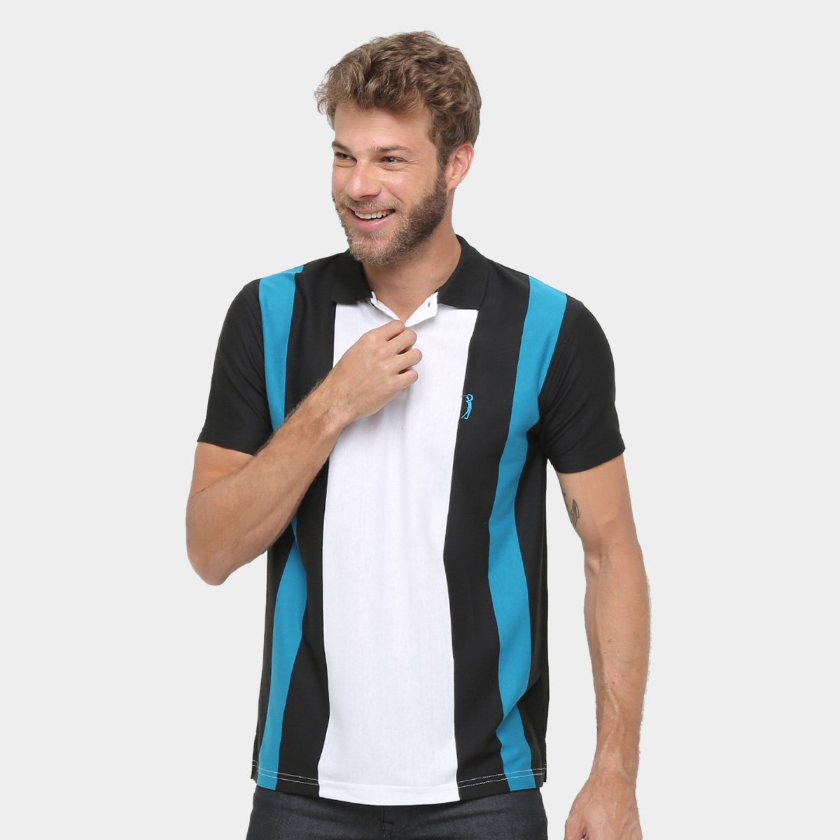 81cf211a0 Camisa Polo Aleatory Listras Masculina - Compre Agora