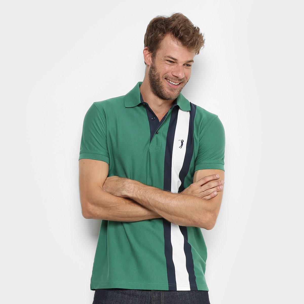 8f0795c797 Camisa Polo Aleatory Listras Verticais Masculina - Compre Agora ...