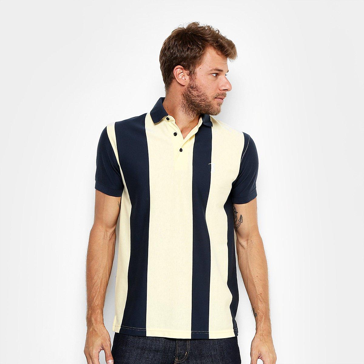 Camisa Polo Aleatory Malha Fio Tinto Vertical Masculina - Compre ... 86e5d29ebf195