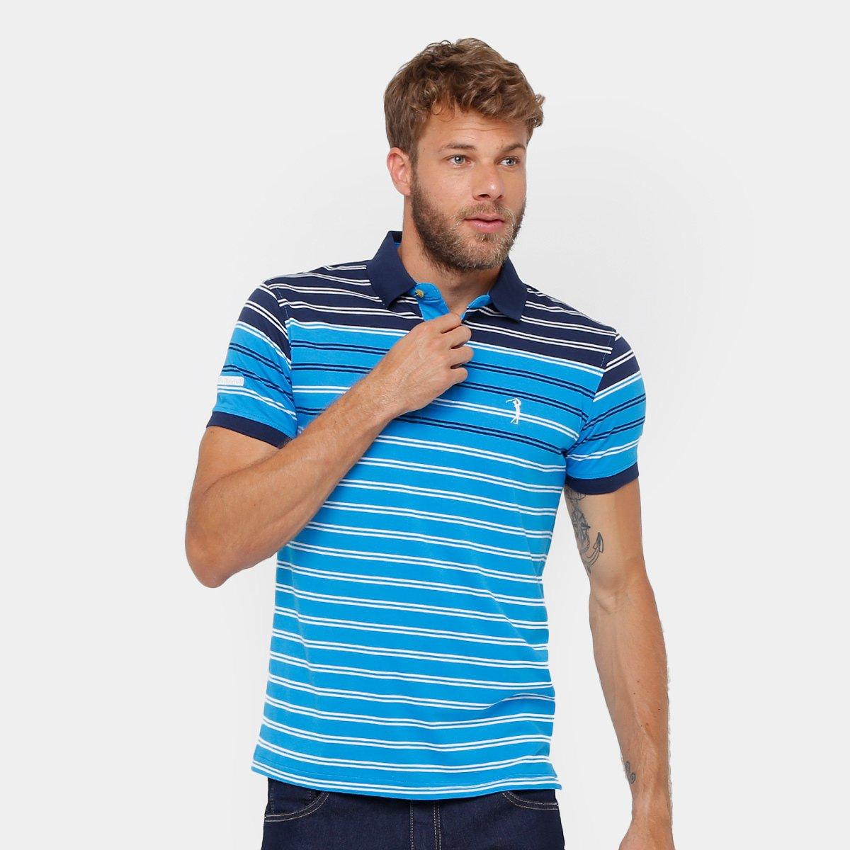 Camisa Polo Aleatory Malha Listrada Masculina - Compre Agora  dec2127d4f2e2