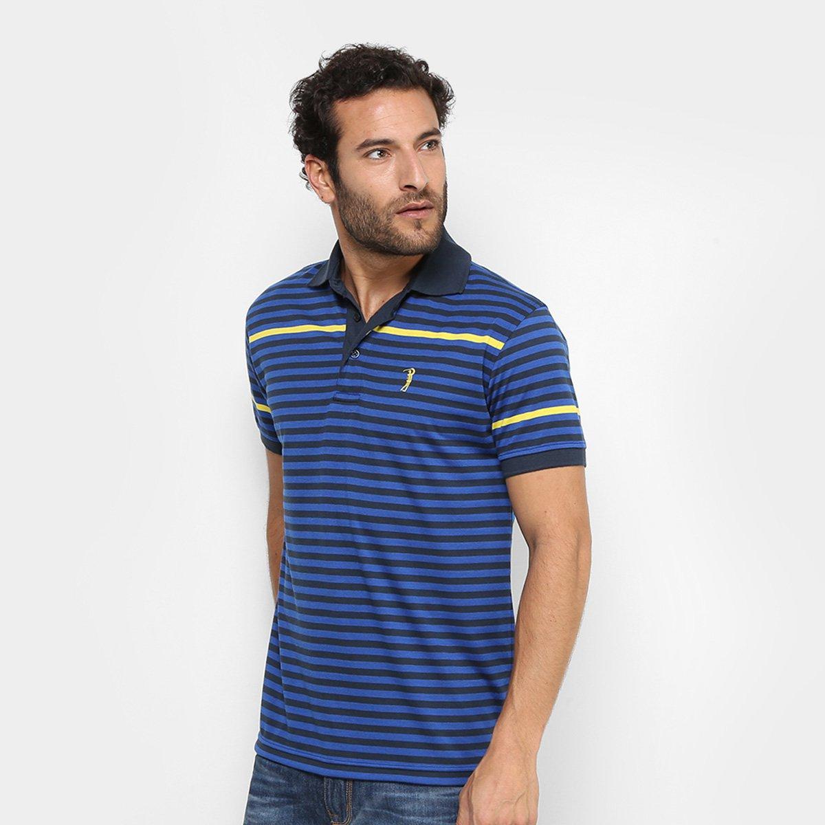Camisa Polo Aleatory Malha Listras Masculina - Compre Agora  8a3e646d1d1e5