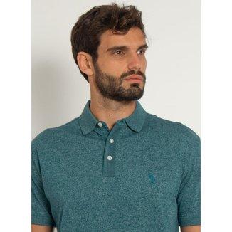 Camisa Polo Aleatory Motion Jersey Azul-Azul-M