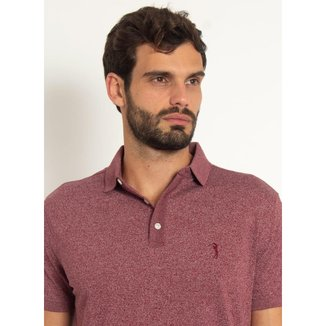 Camisa Polo Aleatory Motion Jersey Bordô-Bordô-P