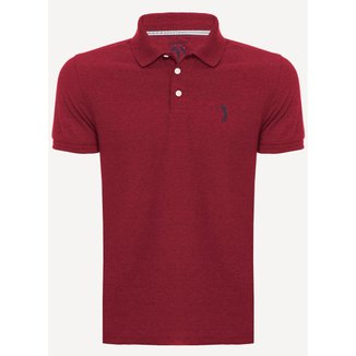 Camisa Polo Aleatory Piquet Light Mescla Vermelho-Vermelho-GG