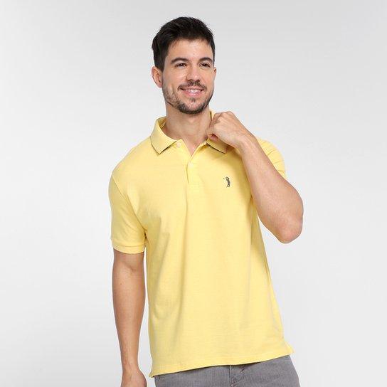 Camisa Polo Aleatory Piquet Masculina - Amarelo