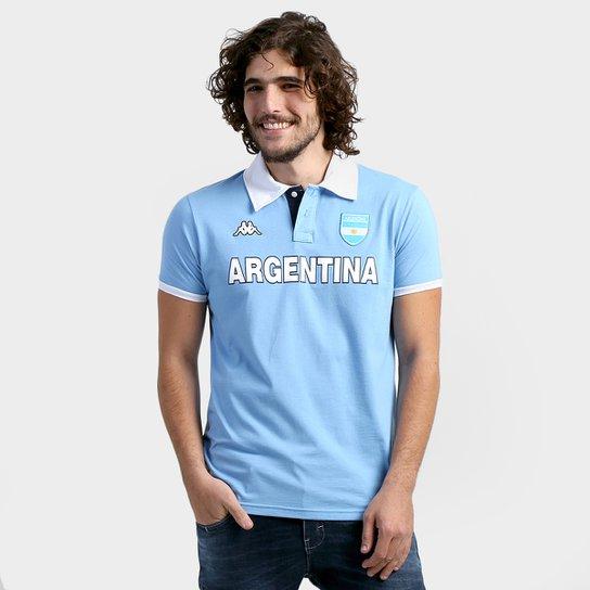 ayudar Campeonato educador  Camisa Polo Argentina Kappa Bravas Masculina | Netshoes