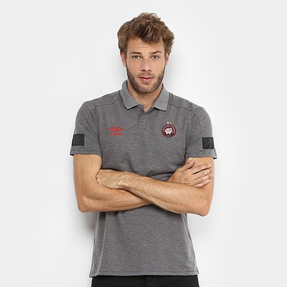 Camisa Polo Athletico Paranaense Viagem 2018 Umbro Masculina - Masculino
