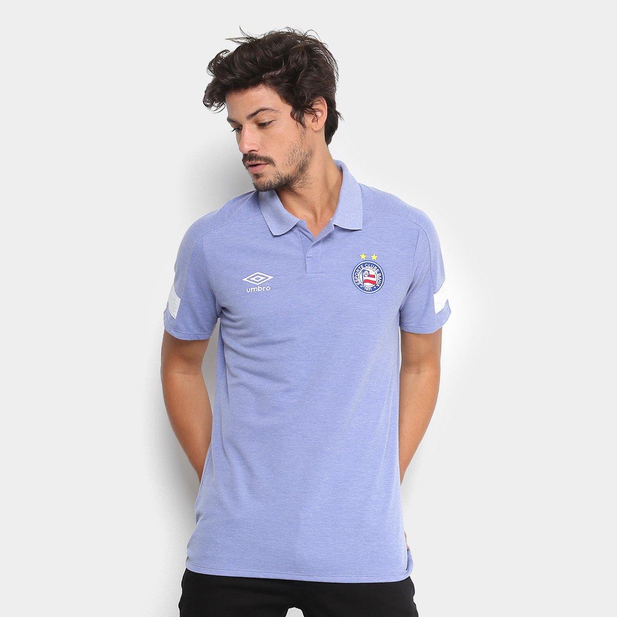 813737291c497 Camisa Polo Bahia Umbro Viagem 18 Masculina - Azul - Compre Agora ...
