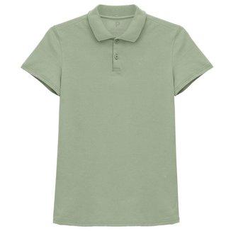 Camisa Polo Basicamente Feminina