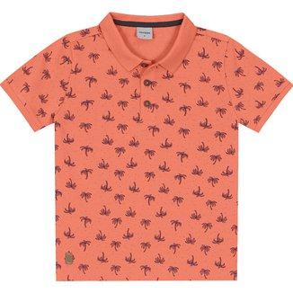 Camisa Polo Bebê Rovitex Estampada Masculina