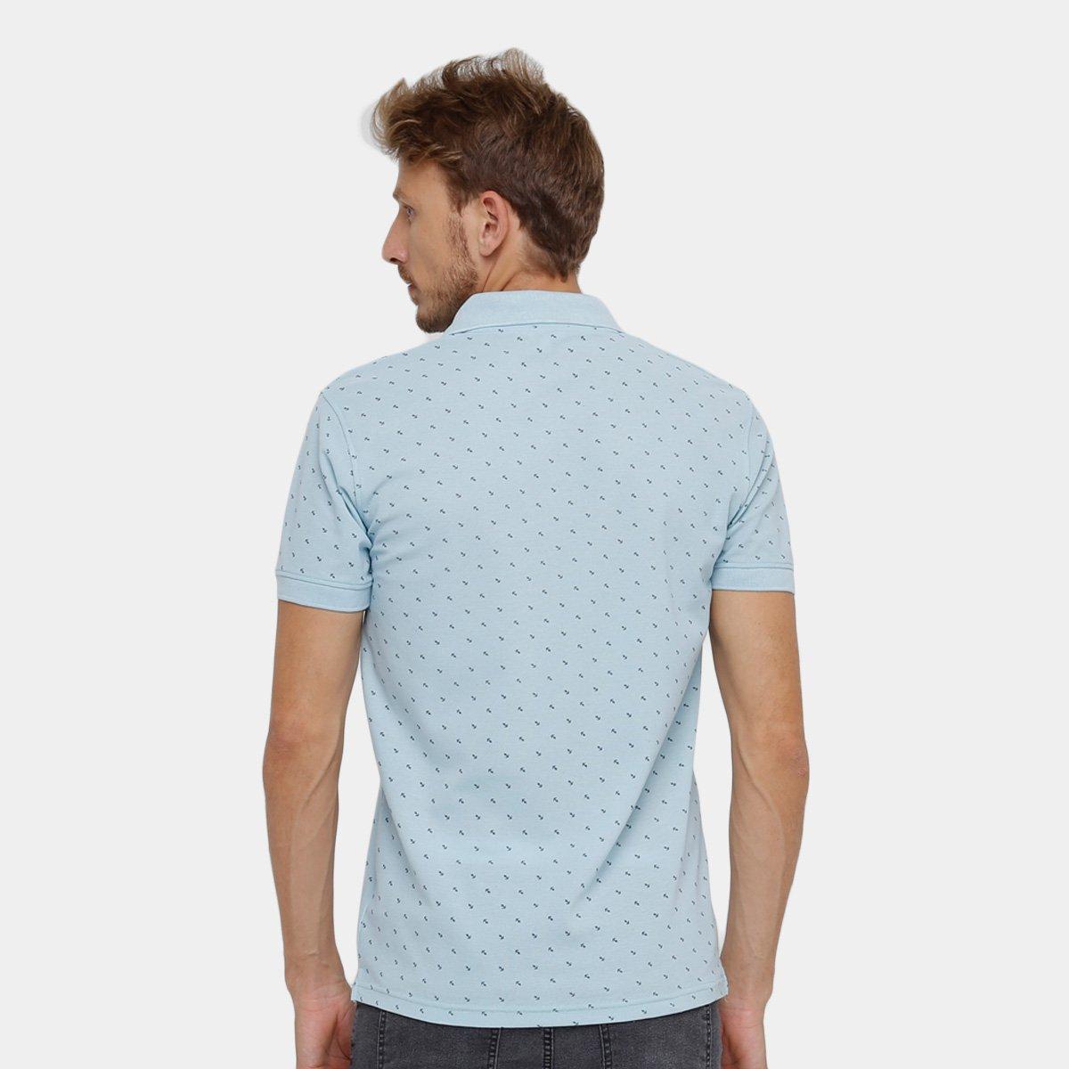 Camisa Polo Blue Bay Piquet Mini Print Âncora Masculina - Compre ... efbb5cdbf0c