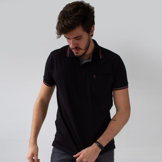 Camisa Polo Bolso Masculina Manga Punho Stretch Anticorpus