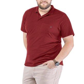 Camisa Polo Bolso Plus TZE Vermelha Escuro