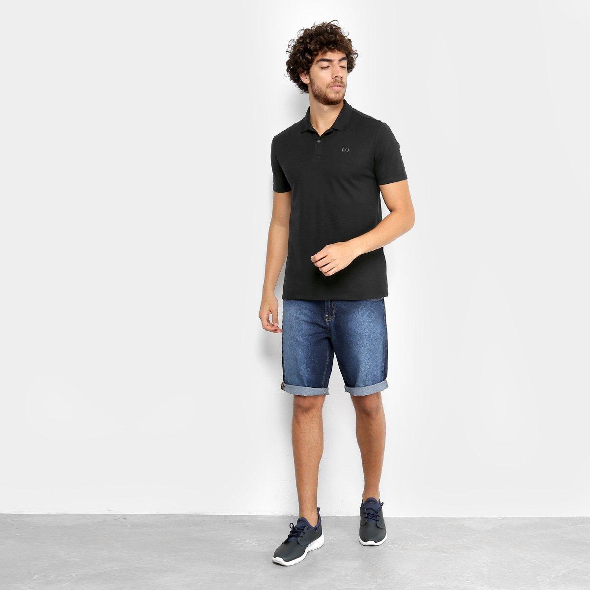 Camisa Polo Calvin Klein Piquet Básica Masculina - Compre Agora ... 3198aa736bcf3