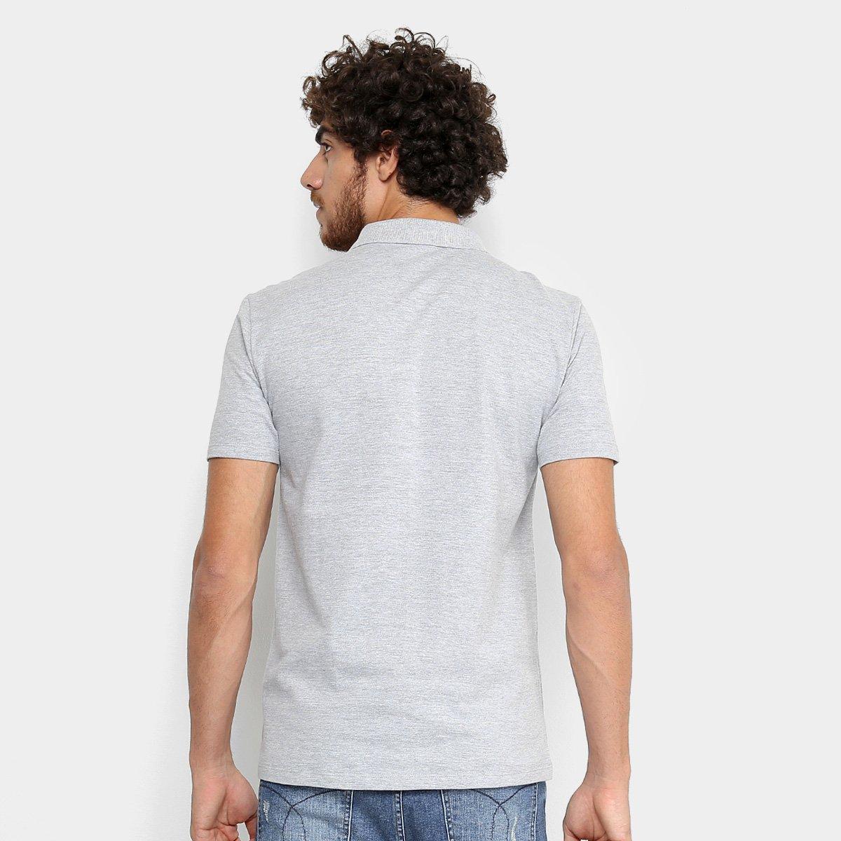 1426edfd5f Camisa Polo Calvin Klein Piquet Estampada Masculina - Mescla ...