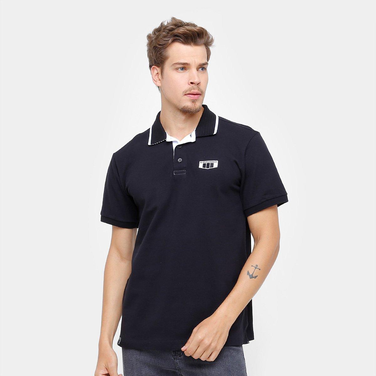 cd98dab89f Camisa Polo Camaro Attitude Masculina - Preto - Compre Agora
