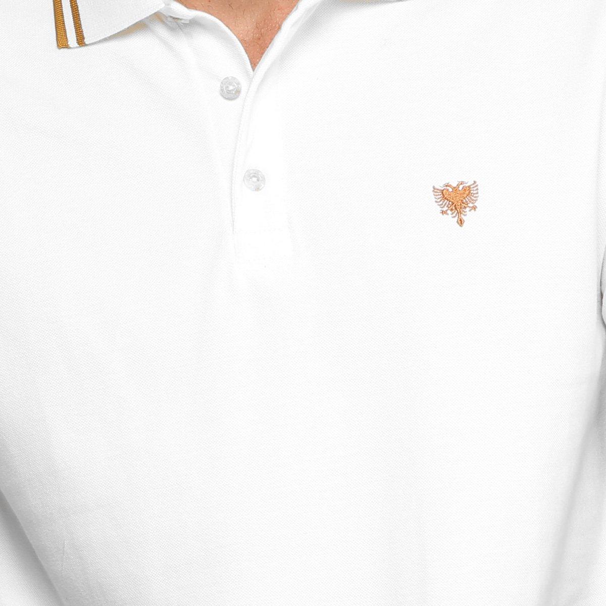 9a78d5d9aa Camisa Polo Cavalera Piquet Frisos Masculina - Branco - Compre Agora ...