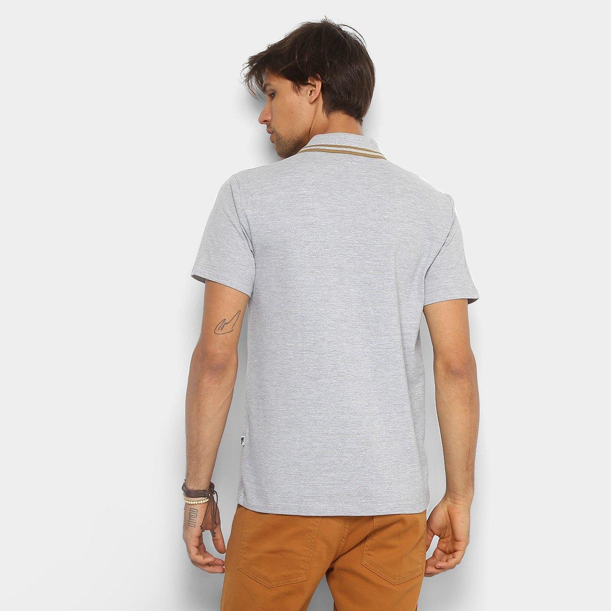 4431e92e4a Camisa Polo Cavalera Piquet Frisos Masculina - Mescla Claro - Compre ...