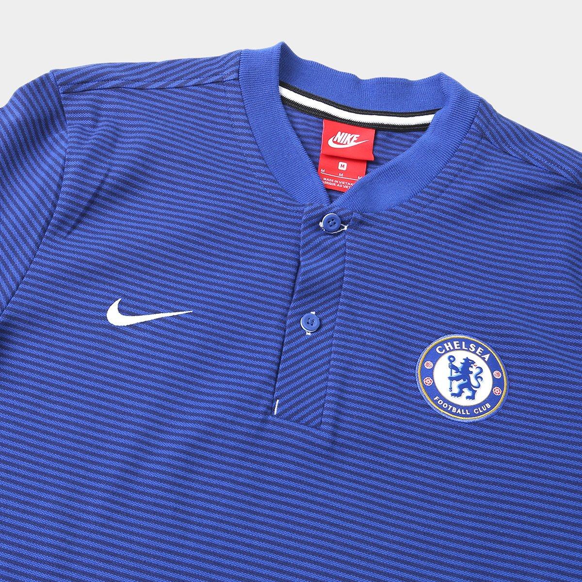 Camisa Polo Chelsea Nike Modern Masculina - Compre Agora  c53fa2f083e3f