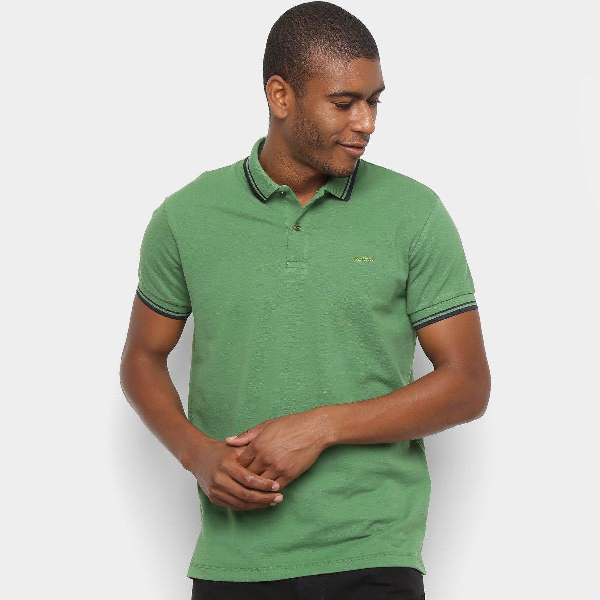 60aa8d734 Camisa Polo Colcci Básica Masculina - Verde - Compre Agora