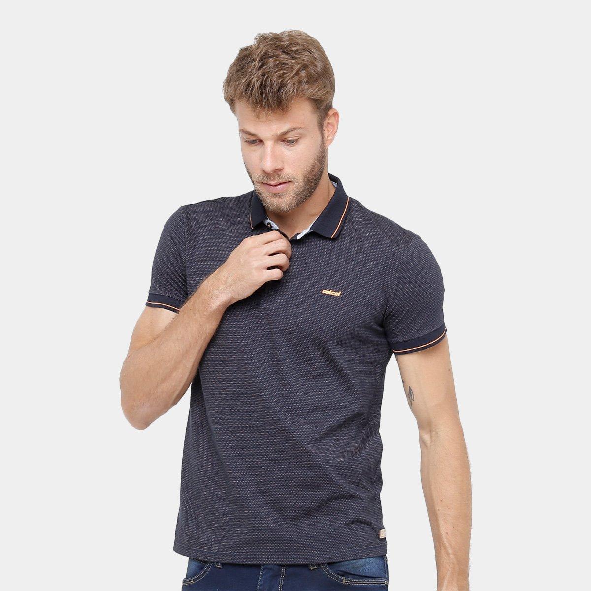 Camisa Polo Colcci Frisos Masculina - Compre Agora  ce0e6c9c719