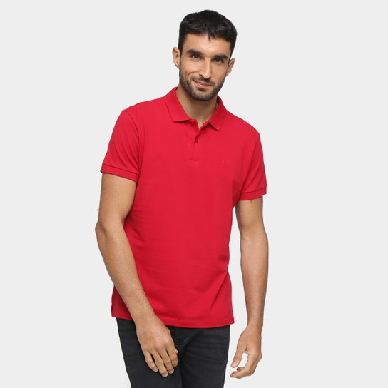 Camisa Polo Colcci Lisa Masculina - Vermelho