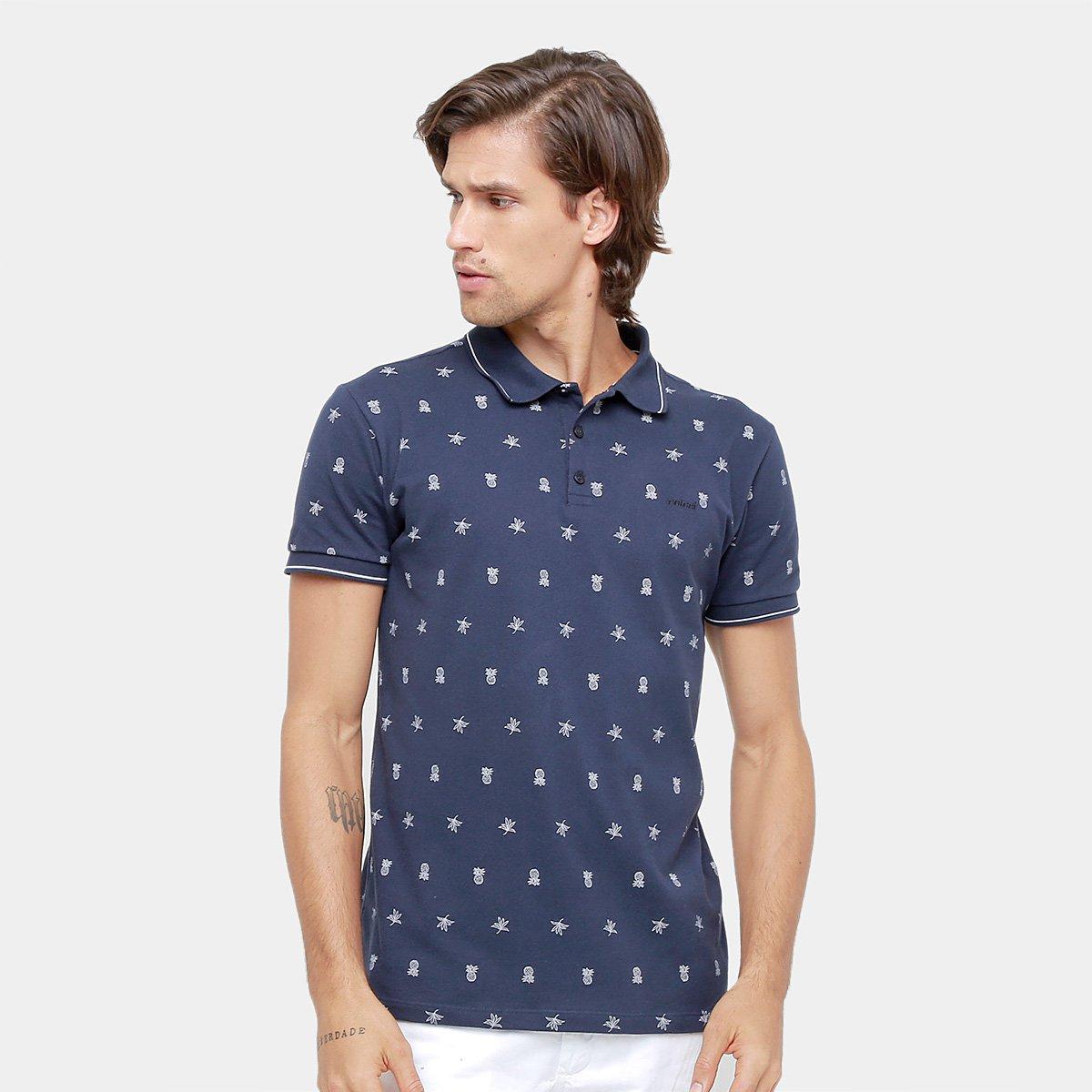 Camisa Polo Colcci Piquet Mini Print Abacaxi Masculina - Compre ... d4eed893d0d