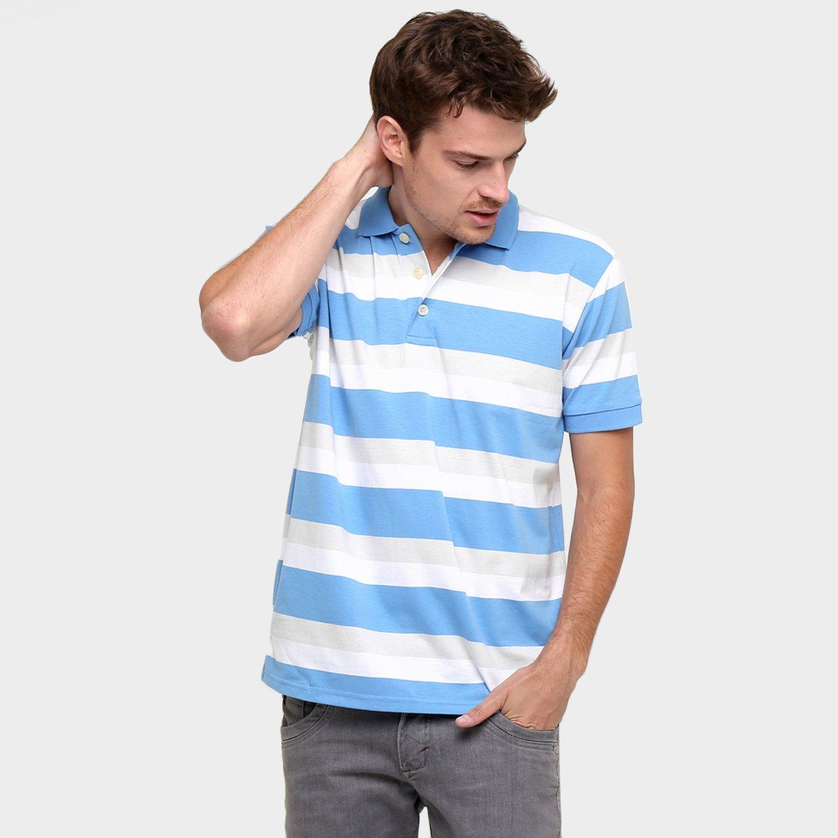 7da87d32d9 Camisa Polo Colombo Listrada Fio Tinto - Compre Agora