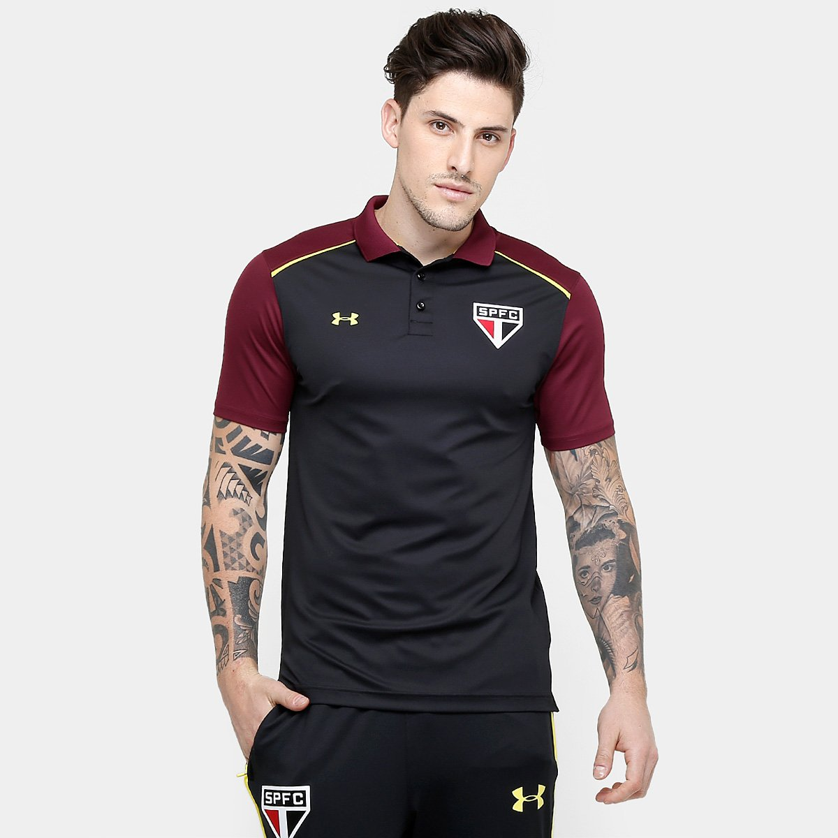 0aba903bfc Camisa Polo Core Under Armour São Paulo 16/17 | Netshoes