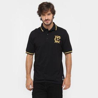 Camisa Polo Corinthian-Casuals Retrô Ouro Masculina