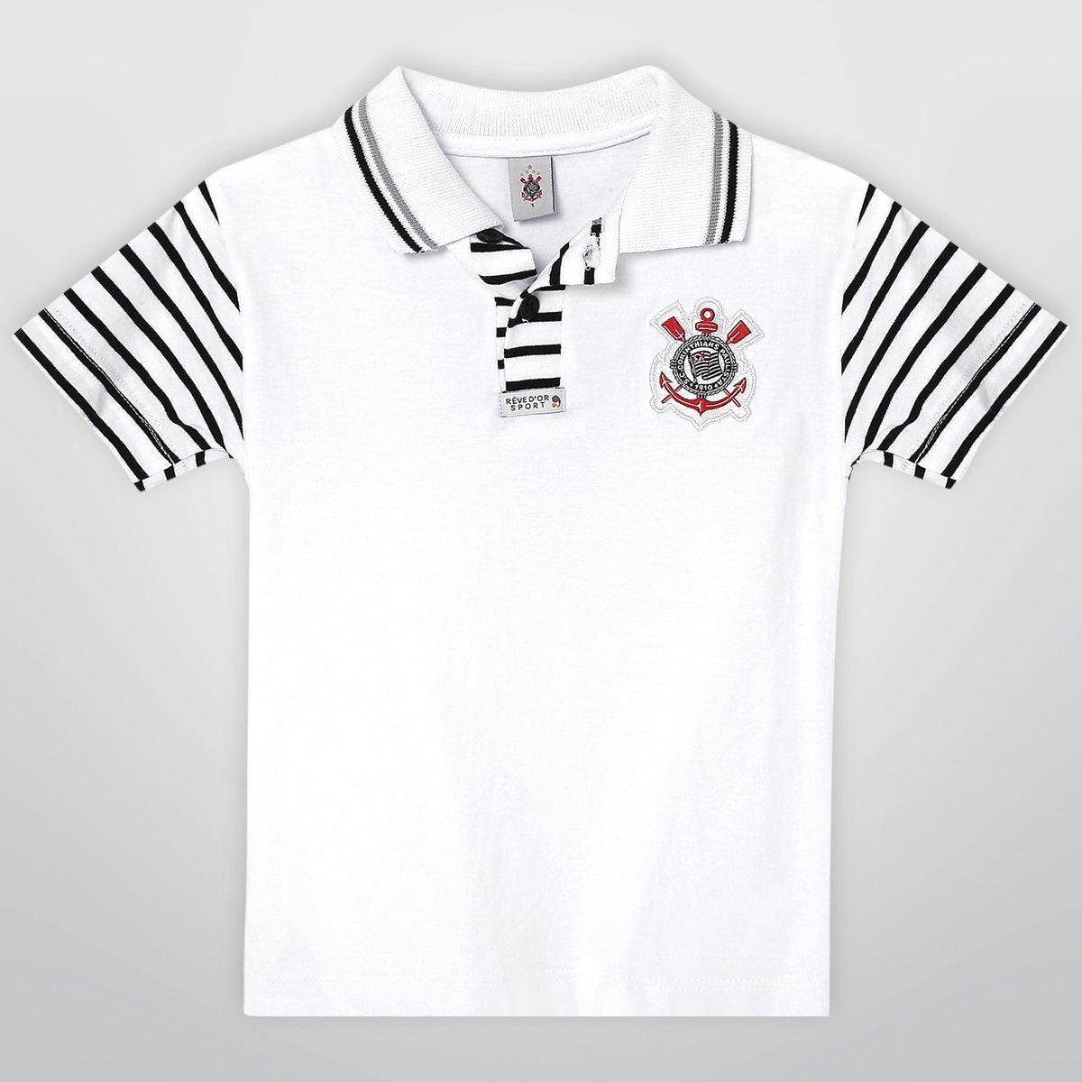 Camisa Polo Corinthians Infantil - Compre Agora  ac15a63d5fbb5