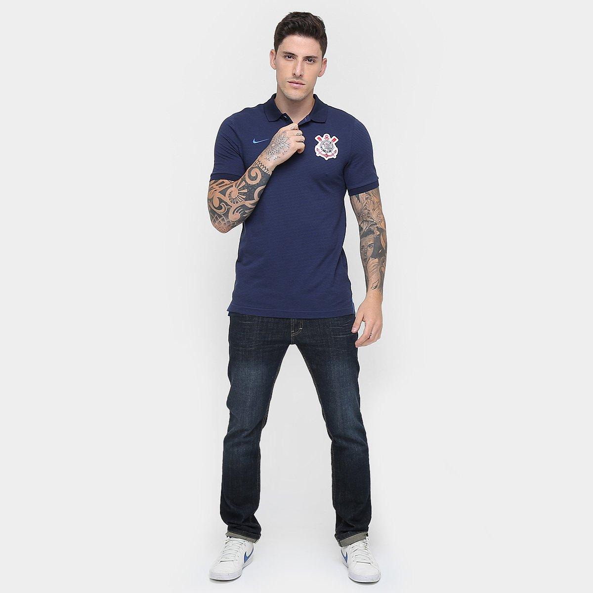 Camisa Polo Corinthians Nike Masculina - Compre Agora  9a092f72b9662