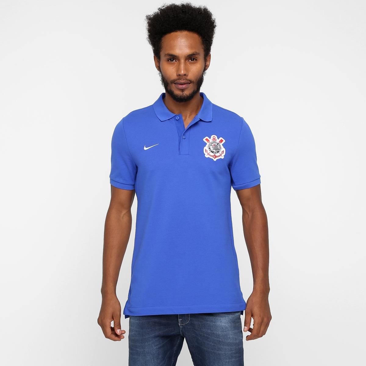 Camisa Polo Corinthians Nike Viagem 2016 Masculina - Compre Agora ... 2ffb5ff253777