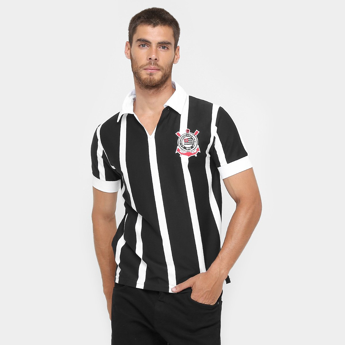 db5de5346f Camisa Polo Corinthians Réplica 1954 - Compre Agora