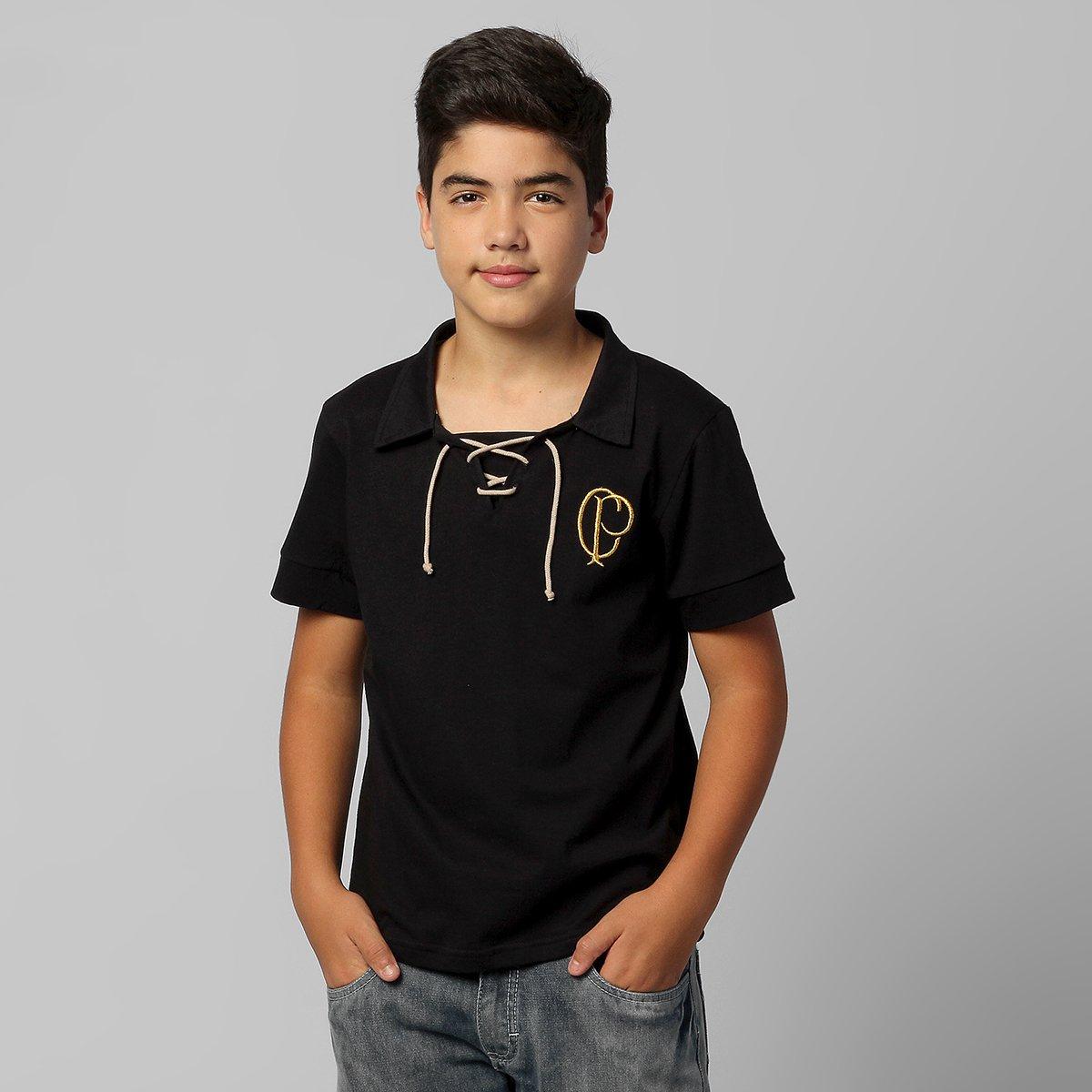 Camisa Polo Corinthians Retrô Juvenil - Compre Agora  4a7b588dba4c7